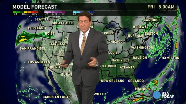 Thursday's forecast: Showers pound the Northeast