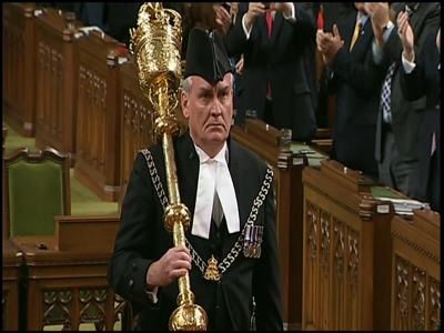 Raw: Parliament sergeant-at-arms declared hero