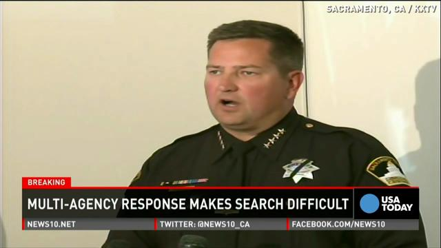 A gunman shot a Sacramento County sheriff's deputy outside a Motel 6 on Oct. 24, 2014. The suspect went on to shoot two more deputies and a motorist after stealing two cars while fleeing.