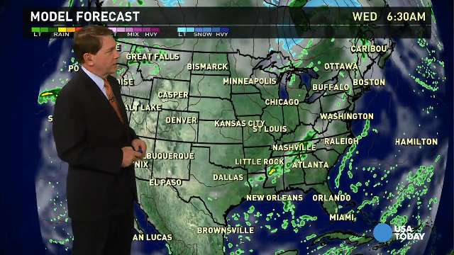 Wednesday s forecast showers for the east coast