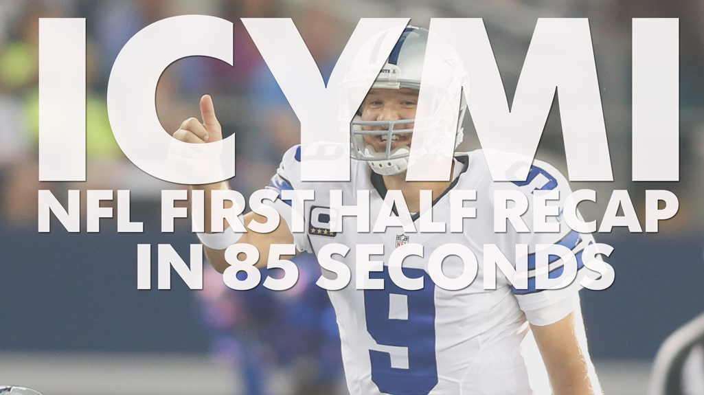 Relive the first half of the NFL season in 85 seconds