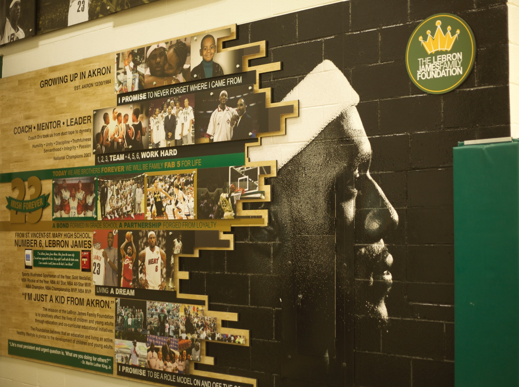 LeBron James' high school thrilled he is home
