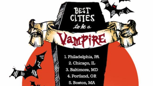 The best U.S. cities for vampires to live