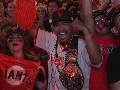 Giants Fans Celebrate World Series Win