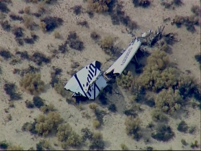 Raw: Virgin Galactic rocket explodes, one dead