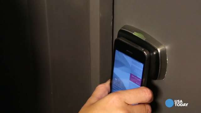 Starwood Hotels and Resorts Worldwide's SPG Keyless program allows guests to check into - and get into - their rooms through their smartphones via an app. Video by Henry Morton for USA TODAY