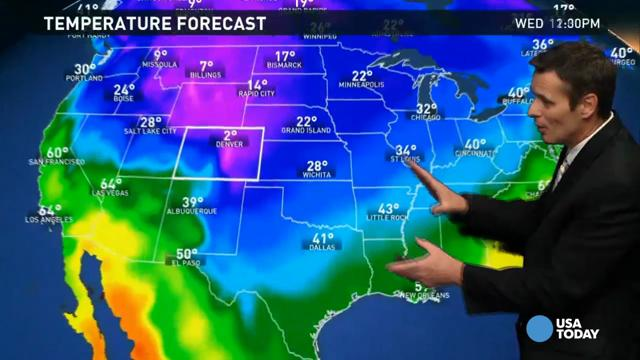 Arctic Air Continues To Surge Into The Central US On