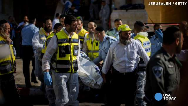 3 Americans among 4 men killed in Jerusalem ax attack