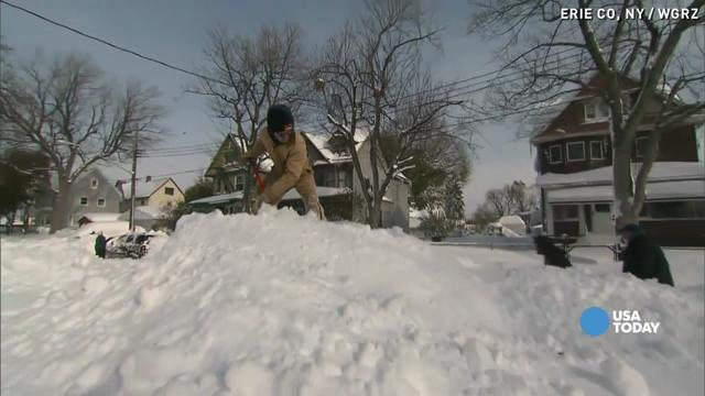 erie county  new york got pounded with more snow overnight with an additional 2 feet expected to