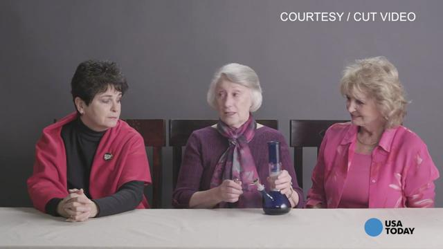 Three grandmas smoke weed for first time