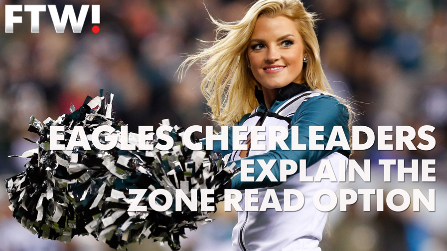 Eagles cheerleaders explain: What's a zone read?