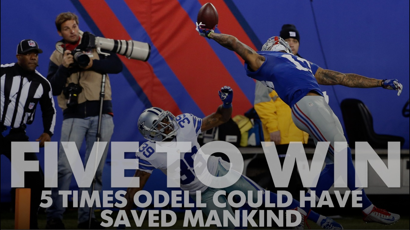 Five to Win: Five times Odell Beckham Jr. could have saved mankind