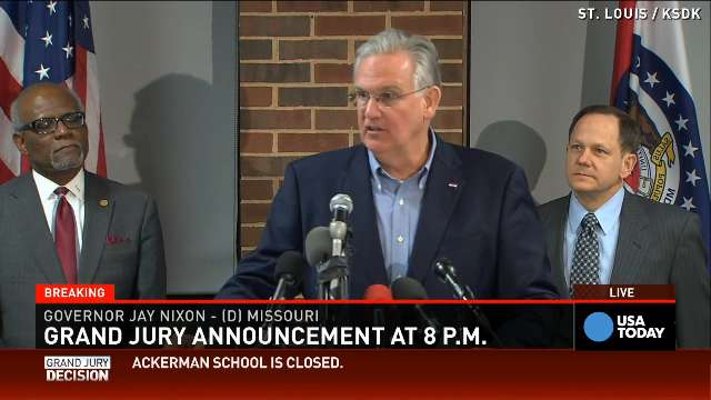 Gov. Nixon urges mutual respect after Ferguson decision