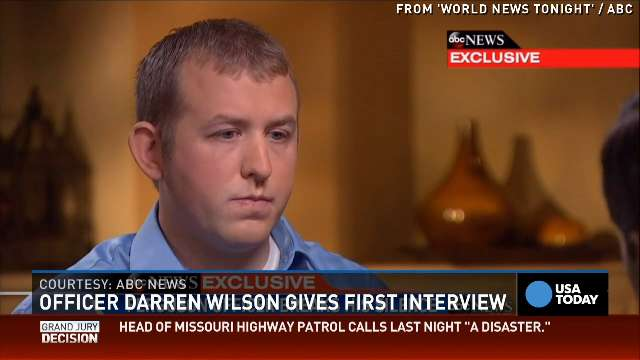 Darren Wilson: 'I know I did my job right'