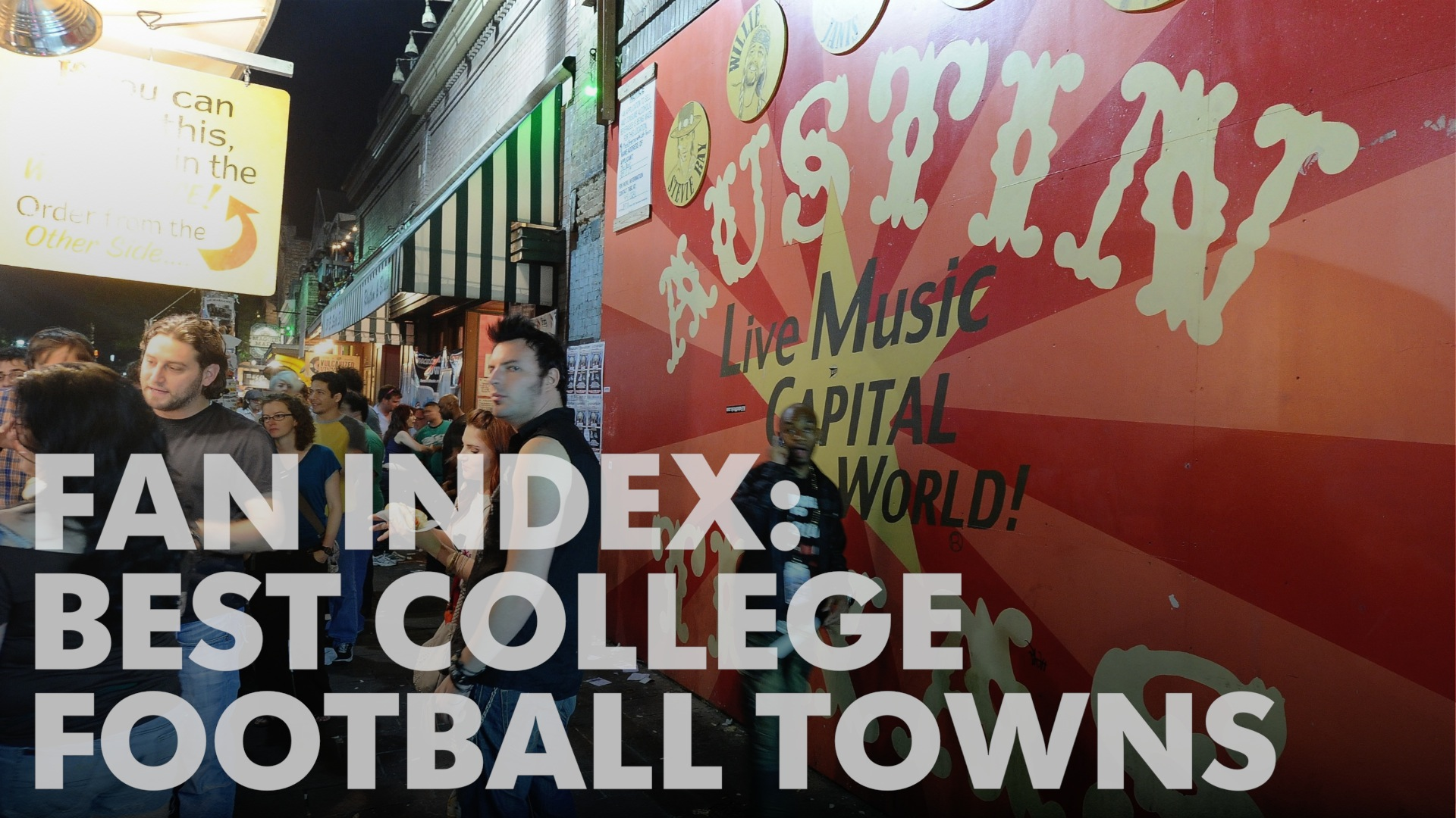 College Football Fan Index: Best college football towns