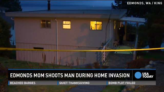 Mom shoots man during home invasion