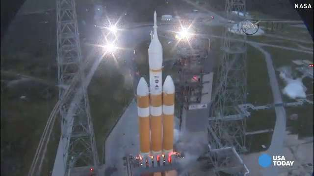Watch NASA's Orion launch from eight different angles