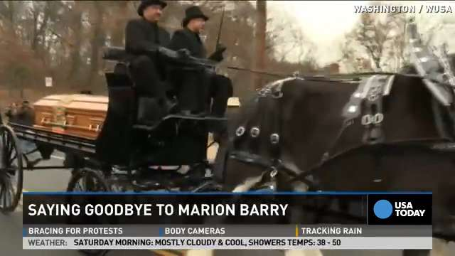 Crowds line streets of D.C. for Marion Barry's funeral