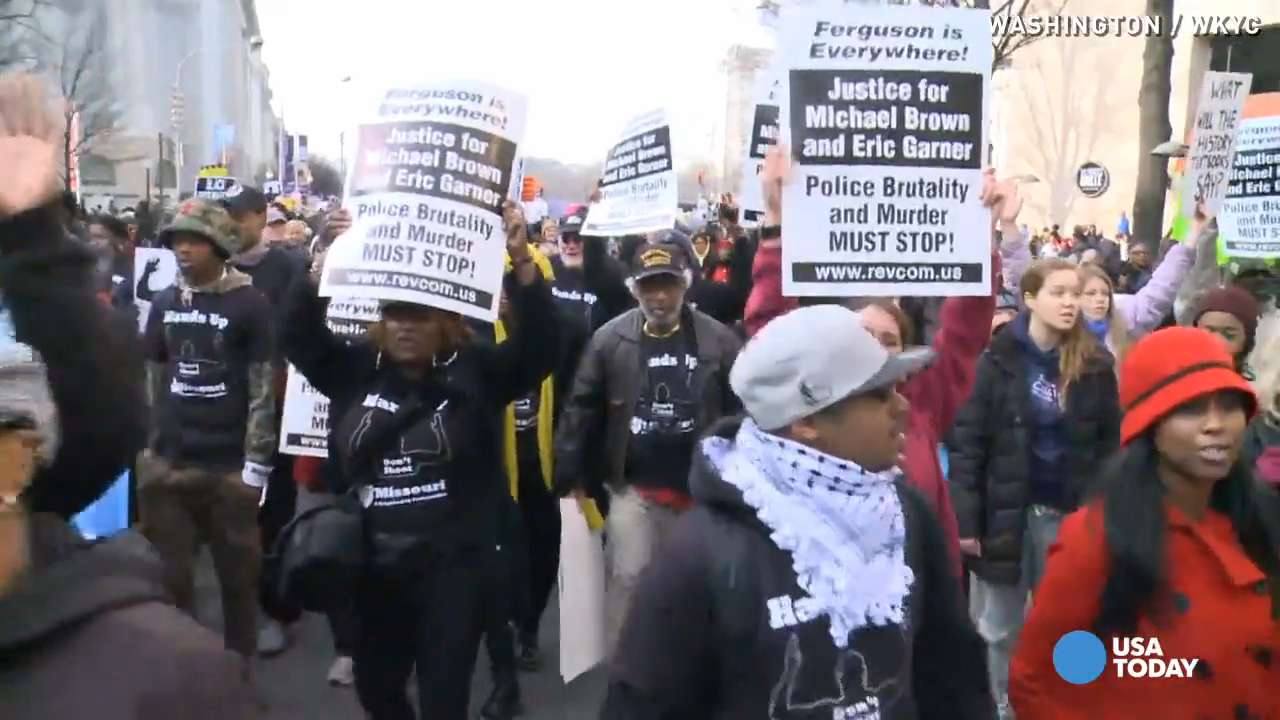Protesters travel hundreds of miles to march in D.C.
