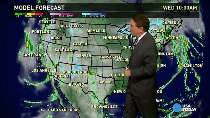 Wednesday's forecast: Stormy and wet along West Coast