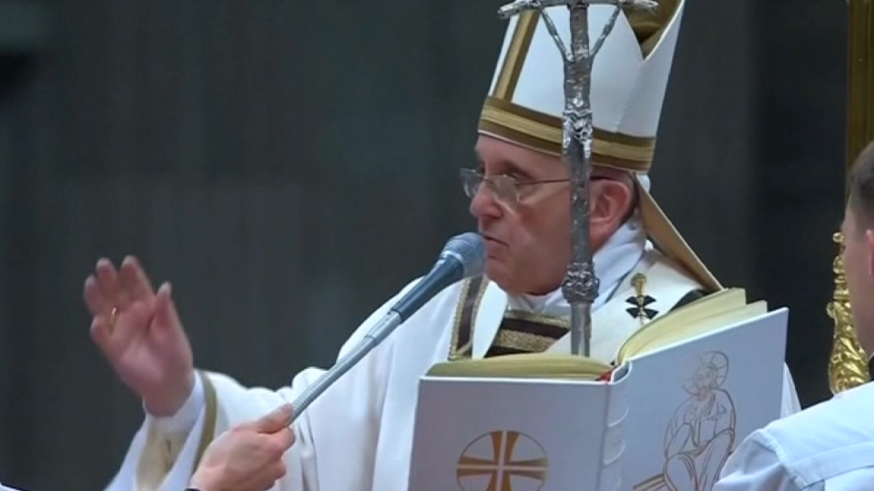 Pope Francis conducts Christmas Eve mass