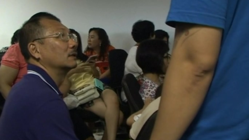 Family members of passengers onboard the missing Malaysian