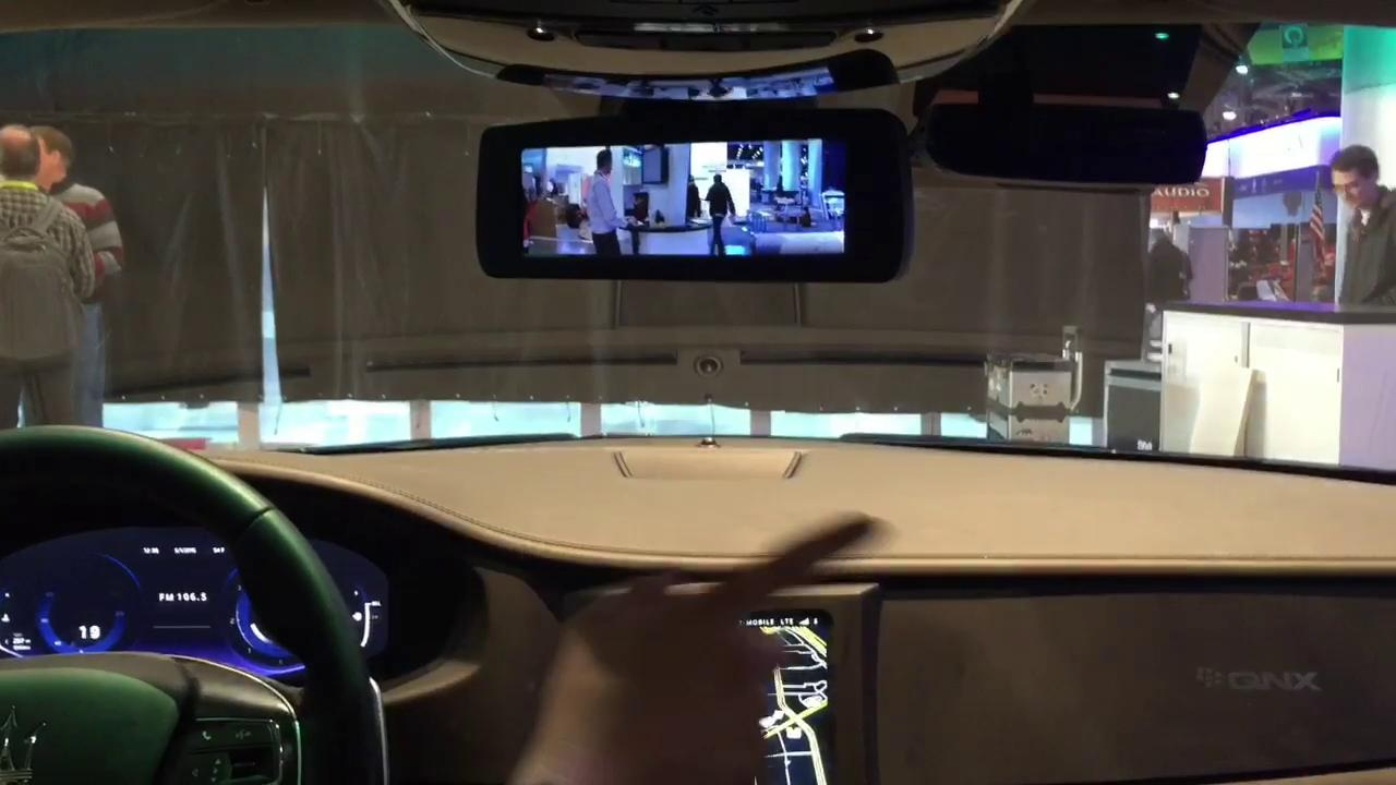 Cameras for rearview mirrors #CES2015