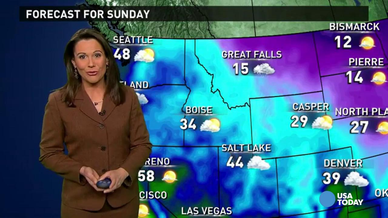 Weather For Sunday : Sunday s forecast snow and ice in midwest