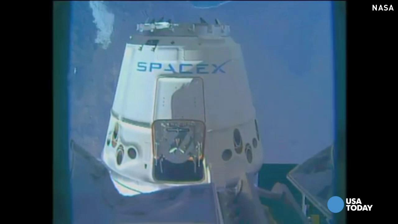 SpaceX Dragon cargo ship captured by ISS