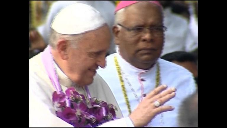 Pope travels to remote church in restive north Sri Lanka