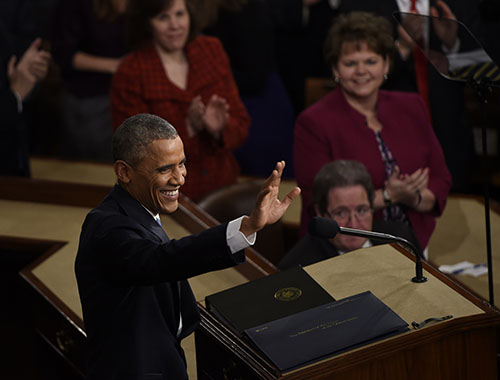Obama's combative tone in State of the Union address