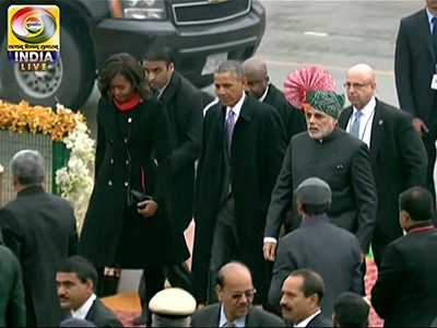 Raw: Obama Watches India Republic Day Parade