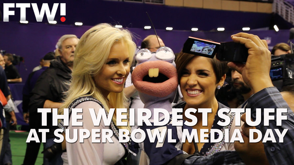 Super Bowl media day: The weirdest stuff that happened
