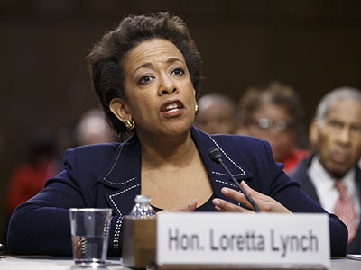 Lynch pledges independence if confirmed as A.G.