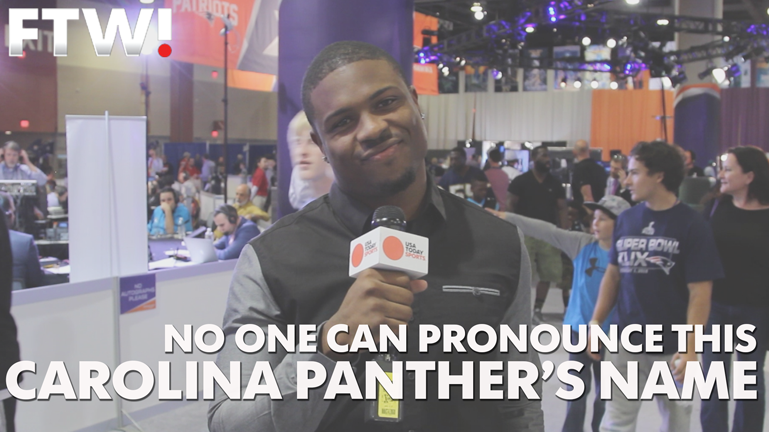 Not even Panthers fans can pronounce this Carolina Panther's name
