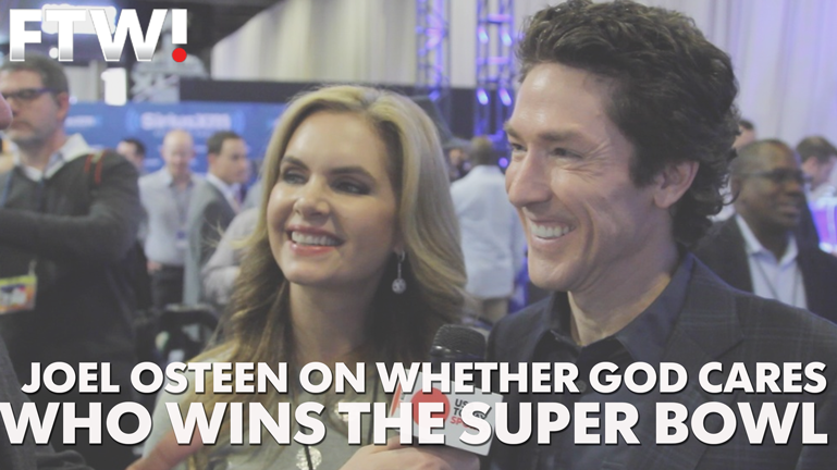 Joel Osteen on whether God cares who wins the Super Bowl