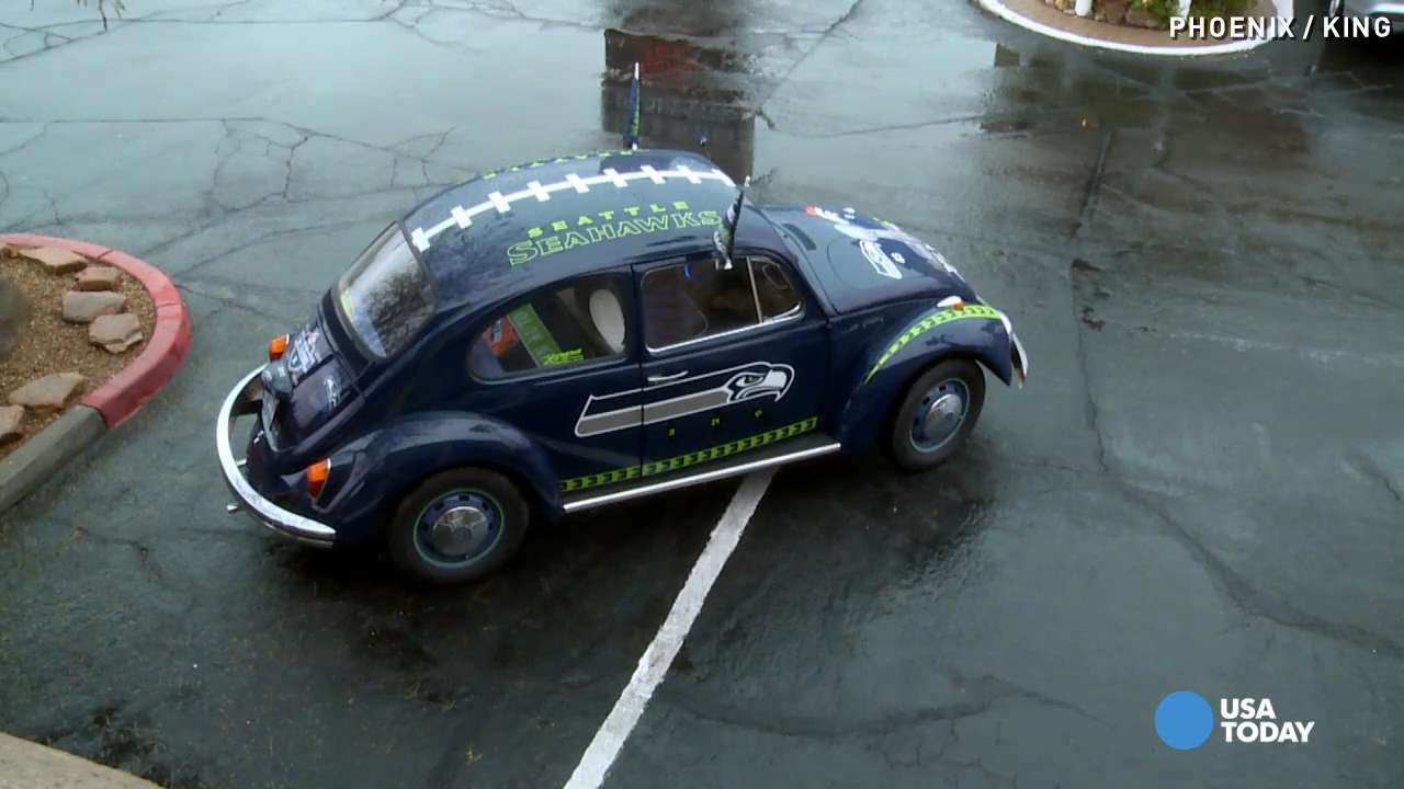 76-year-old turns Beetle into pimped-out Seahawks car
