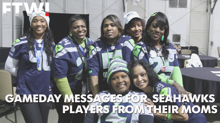 Moms of Seahawks players send sons gameday messages