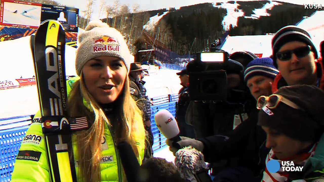 Lindsey Vonn takes super-G bronze at Championships