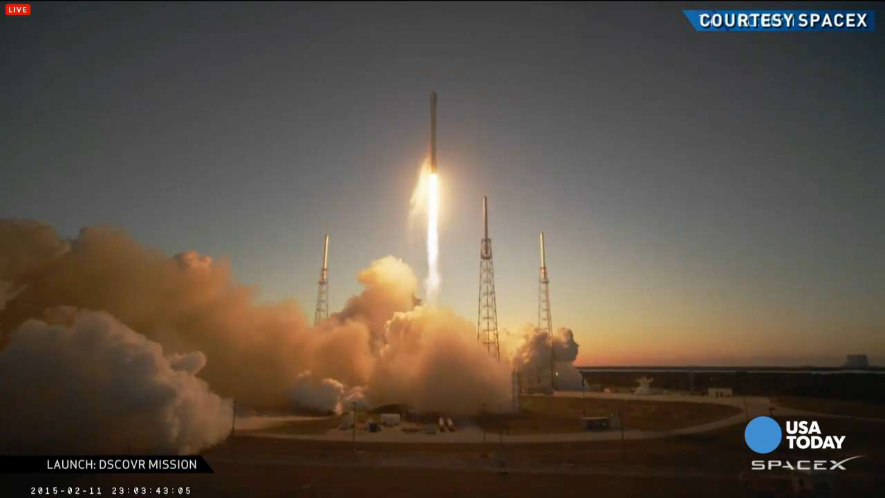 Watch: SpaceX launches Falcon 9 DSCOVR rocket