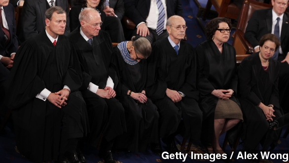Supreme Court Justice Ruth Bader joked during an event