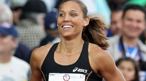 At the 2012 Olympics in London,  Lolo Jones reacts after competing in the women's 100 hurdles semifinals.
