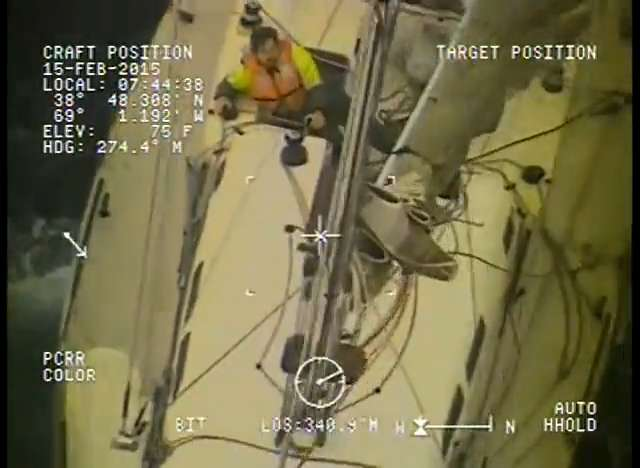 Amazing video shows Coast Guard rescuing two sailors