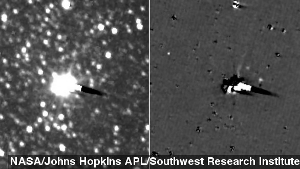 New horizons spacecraft takes first images of Pluto's moons