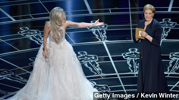 Lady Gaga and Julie Andrews were Oscars gold