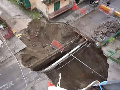 how to tell if a pipe burst underground