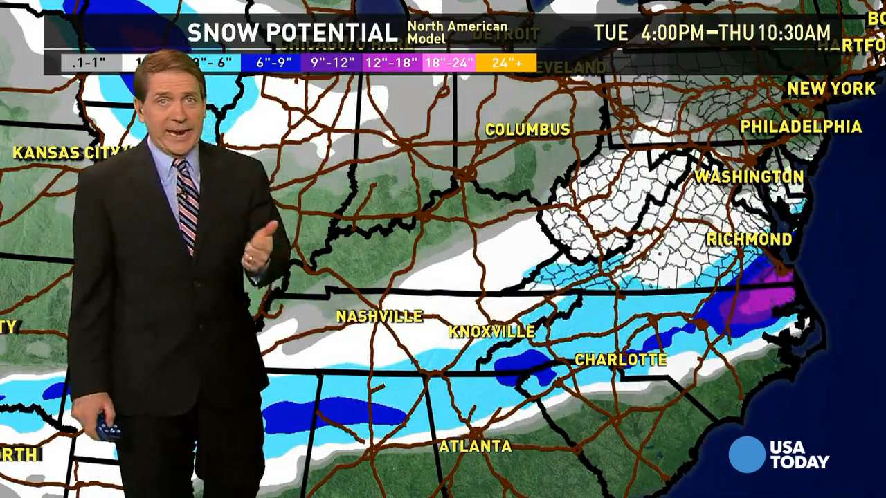 Wednesday's forecast: Another Southern storm