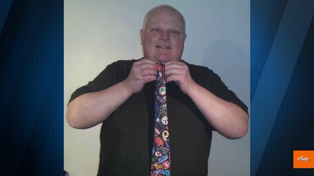Rob Ford's crack tie is selling for big bucks on eBay