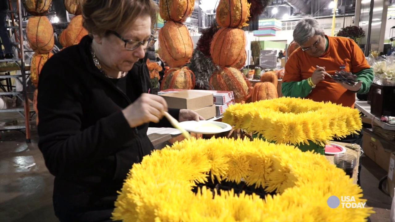 Preparations for the 2015 Philadelphia Flower Show