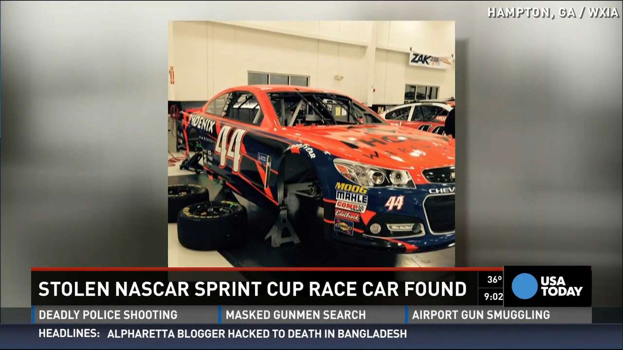 Stolen NASCAR No. 44 car has been found